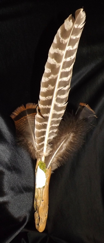 Smudge fan, Michele Fire-River Heart, healing through ceremony