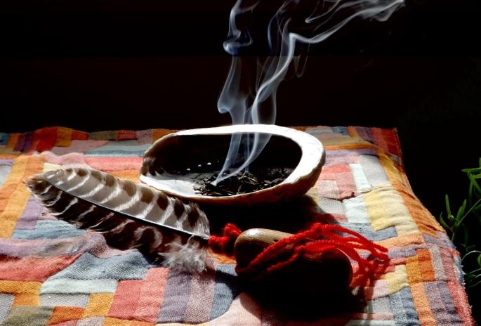smudge, smudging ceremony, michele fire-river heart, healing through ceremony