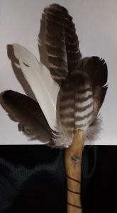 Smudge fan, Michele Fire-River Heart, healingthrough ceremony